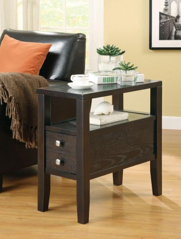 Cappuccino Chairside Table 900991