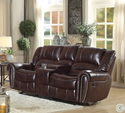 Tremendous Center Hill Saddle Double Glider Reclining Loveseat With Console Uwap Interior Chair Design Uwaporg