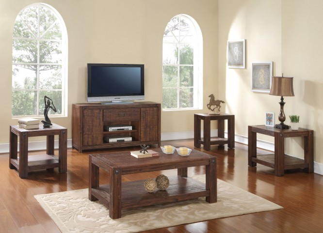 Fairway Royal Classics Distressed Walnut Occasional Table Set