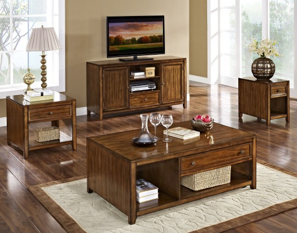 Contempo Royal Classics Burnished Walnut Occasional Table Set