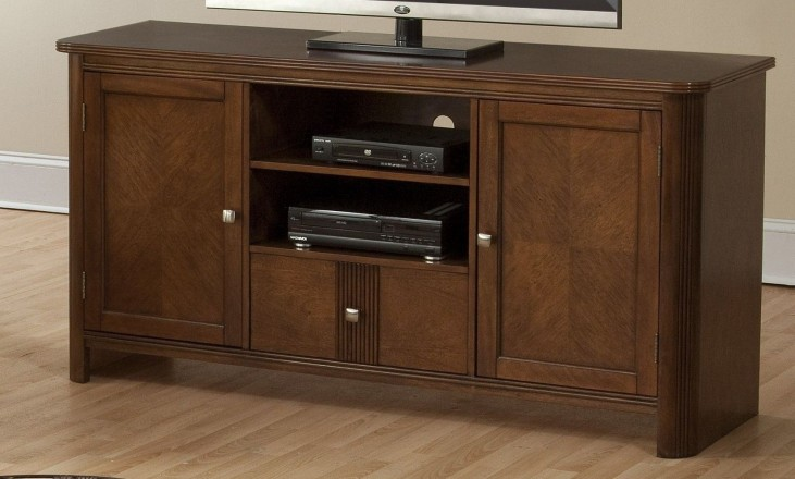 Leighla African Chestnut Entertainment Console