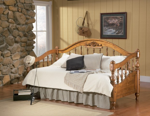 Medium Distressed Brown Twin Day Bed