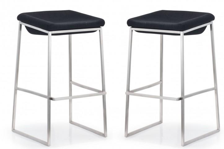 Lids Dark Gray Bar Chair Set of 2