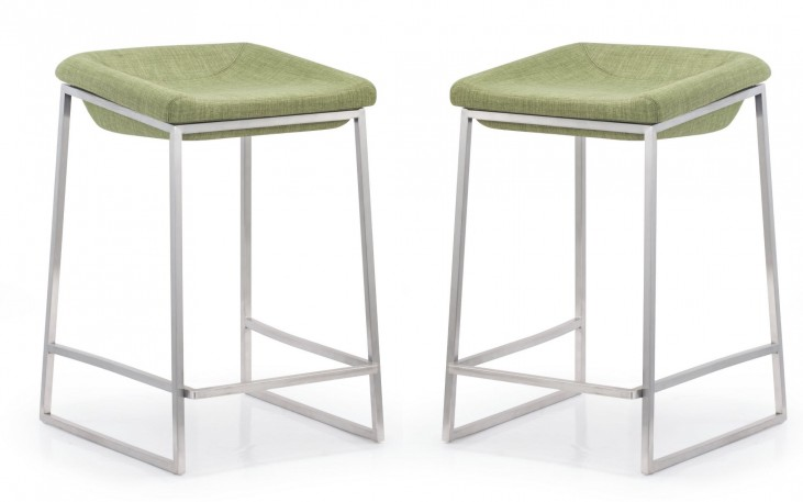 Lids Green Counter Chair Set of 2