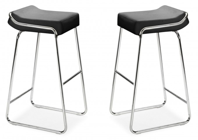 Wedge Bar Chair Black Set of 2