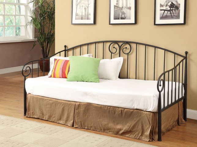 Black Twin Metal Day Bed