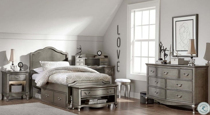 Kensington Antique Silver Charlotte Youth Panel Bedroom Set With Storage From Ne Kids Coleman