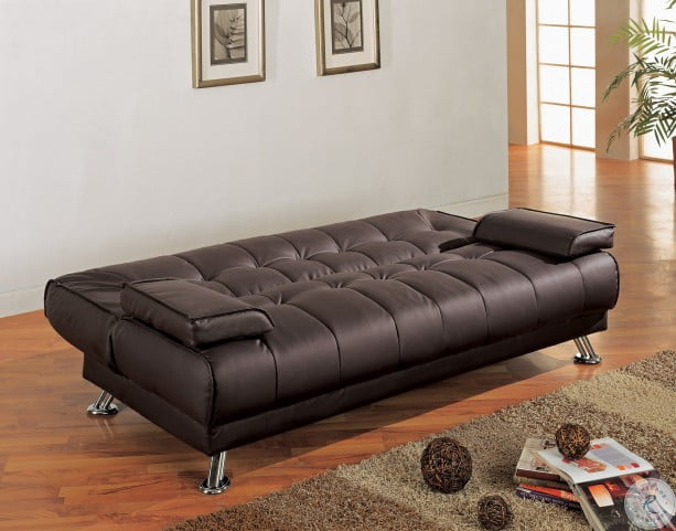 info for ef1ae 7fb13 Faux Leather Convertible Sofa Bed With Removable Armrests - 300148