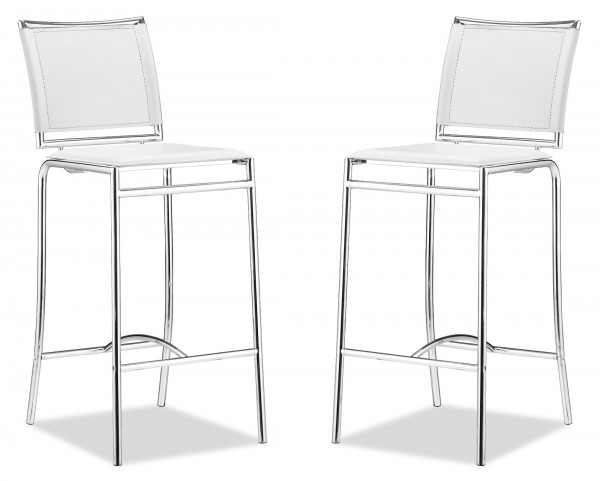 Soar Bar Chair White Set of 2