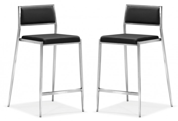 Dolemite Counter Chair Black Set of 2