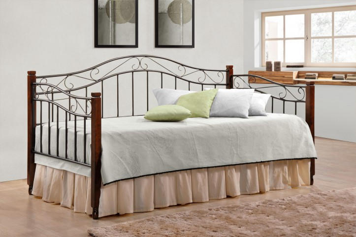Sandy Black Twin Metal Daybed
