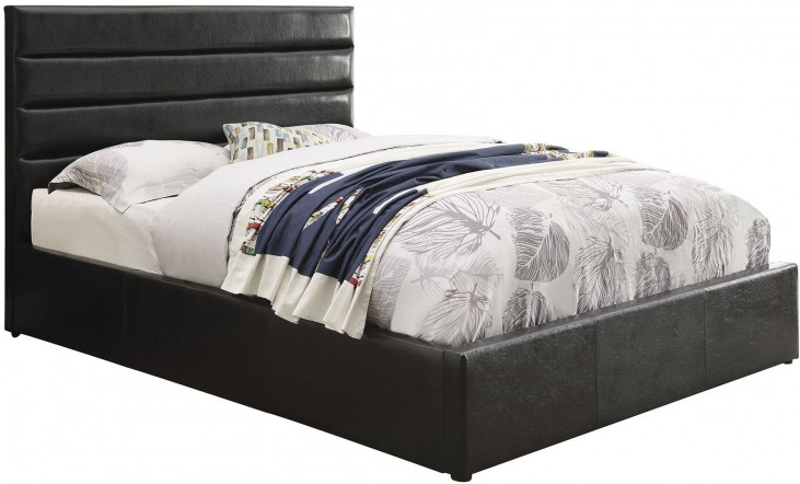 Riverbend Black Queen Platform Bed
