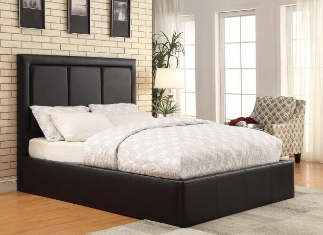 Jacobsen Black Full Platform Bed