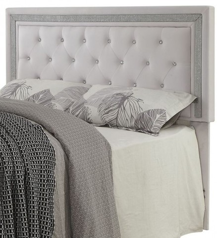Andenne White Leatherette Twin Size Headboard