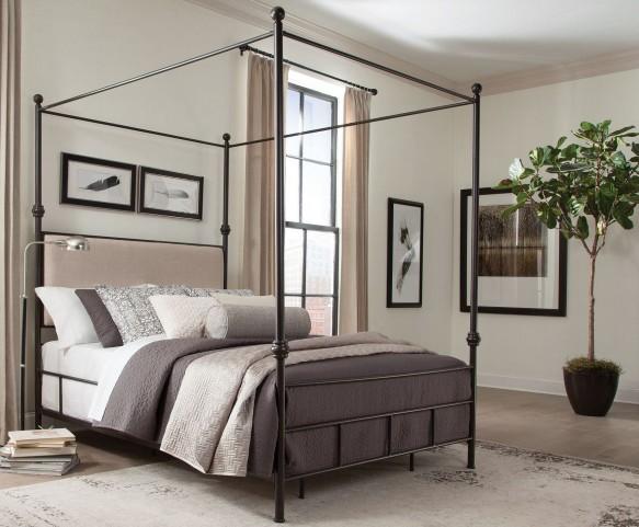 Lanchester Queen Metal Canopy Bed
