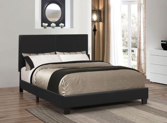 Mauve Black Queen Platform Bed