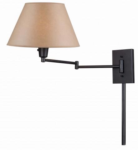 Simplicity Matte Black Wall Swing Arm Lamp