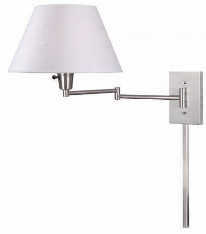Simplicity Brushed Steel Wall Swing Arm Lamp