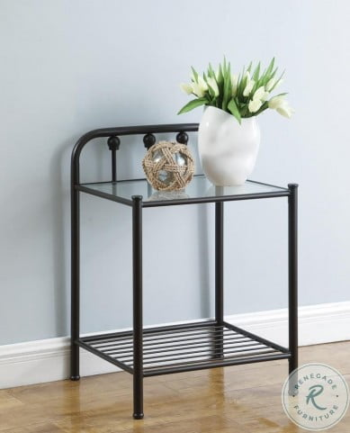 Livingston Dark Bronze Nightstand