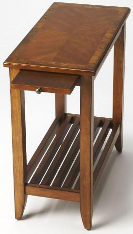 Irvine Olive Ash Burl Chairside Table