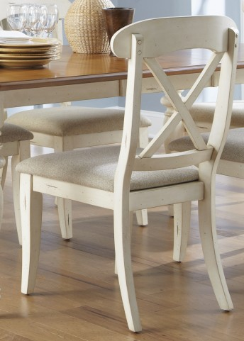Ocean Isle Upholstered X Back Side Chair Set of 2