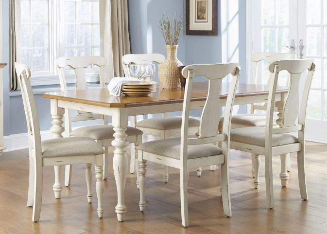 Ocean Isle Rectangular Leg Extendable Dining Room Set