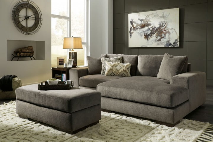 Manzani Graphite Raf Sectional From Ashley 3030464 3030417 Homegallerystores Com