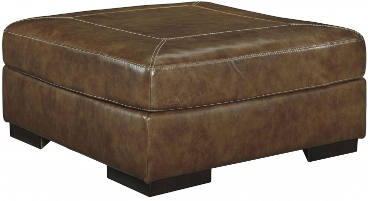 Vincenzo Nutmeg Oversized Accent Ottoman
