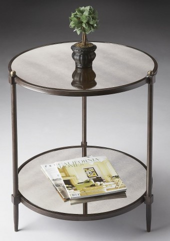 Metalworks Antiqued Mirror Side Table