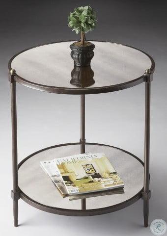 Metalworks Antiqued Mirror Side Table