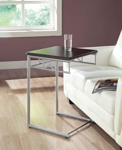 3073 Cappuccino / Silver Metal Snack Table