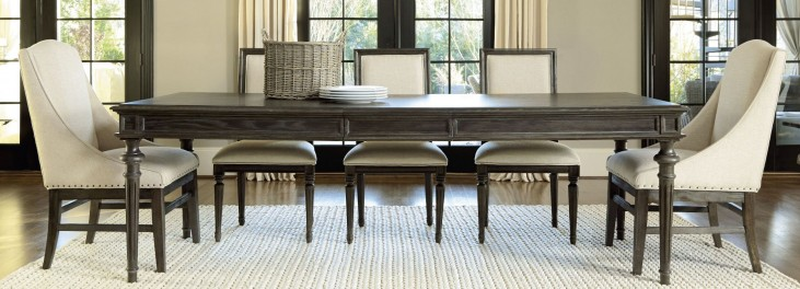 Great Rooms Brownstone Tribeca Extendable Leg Dining Room Set
