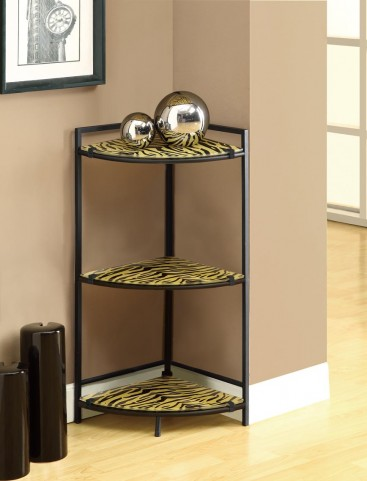 3121 Black Metal Accent Table