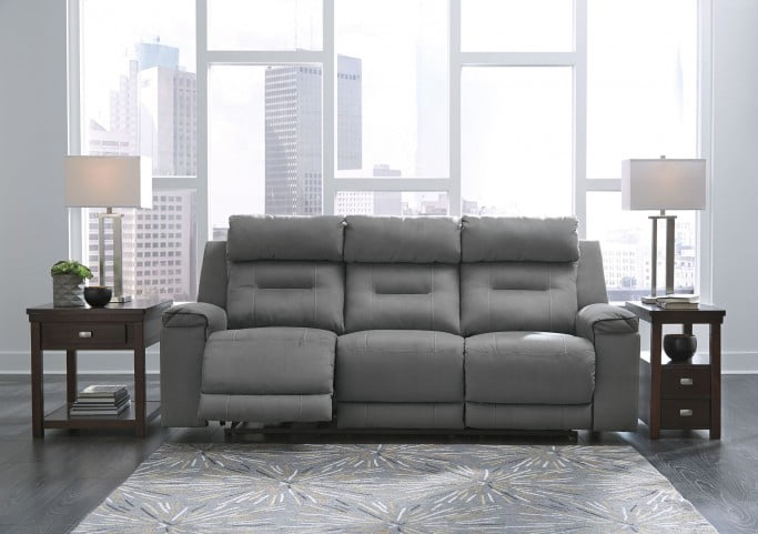 Awe Inspiring Trampton Smoke Power Reclining Sofa With Adjustable Headrest Gmtry Best Dining Table And Chair Ideas Images Gmtryco