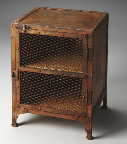 Lucas Industrial Chic Metalworks Chairside Chest