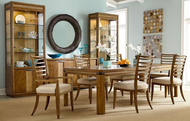 Grove Point Warm Khaki Rectangular Extendable Dining Room Set