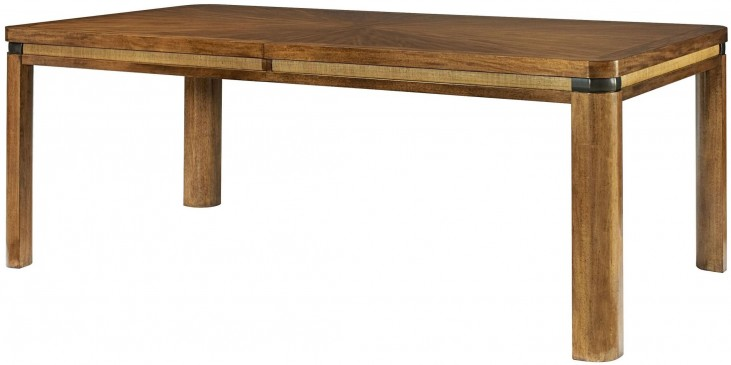 Grove Point Warm Khaki Extendable Rectangular Leg Dining Table