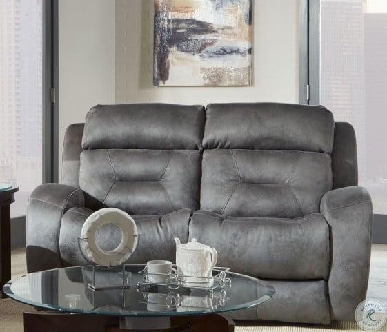 Astonishing Showcase Grey Double Power Reclining Loveseat With Power Headrest Gmtry Best Dining Table And Chair Ideas Images Gmtryco