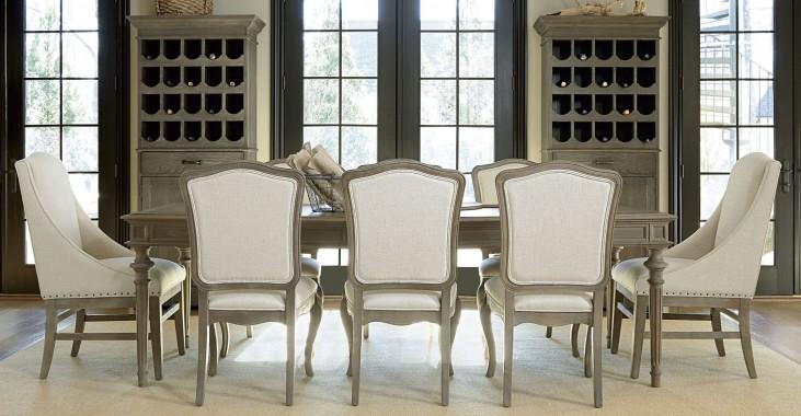 Great Rooms Studio Extendable Tribecca Leg Dining Room Set