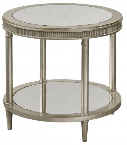 Vanesta Silver Round End Table