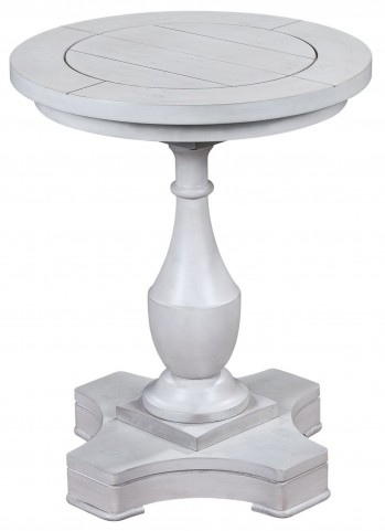 Holden Antique White Round End Table