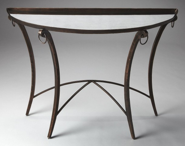 Marilyn Metalworks Demilune Console Table