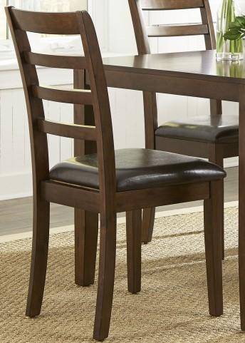 Bradshaw Russet Ladder Back Side Chair Set of 2