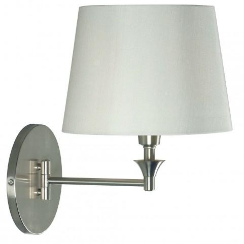 Martin Brushed Steel Wall Swing Arm Lamp