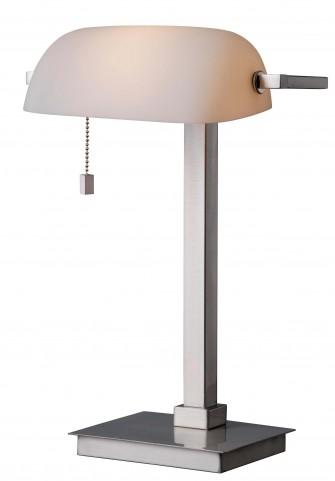 Wall Street Brushed Steel Desk Lamp