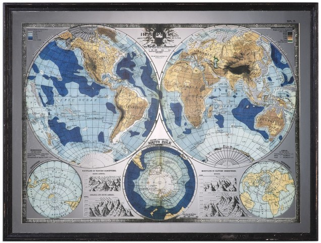 Mirrored Gray World Map From Uttermost Coleman Furniture