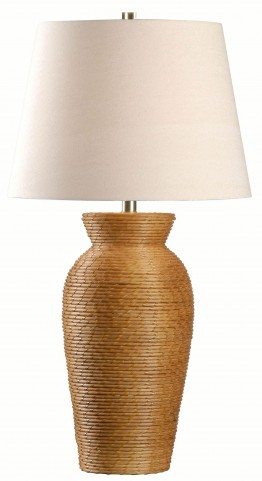 Plait Light Rattan Table Lamp