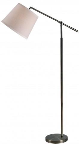 Tilt Dark Antique Brass Floor Lamp