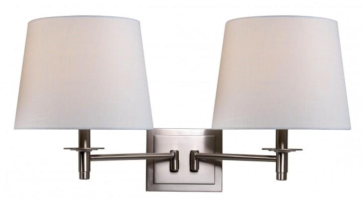 Glenn Brushed Steel Wall Swing Arm Lamp