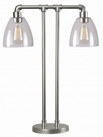 Steam Galvanized Metal Fitter Table Lamp
